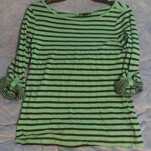 3/4 Length Sleeve Striped Shirt